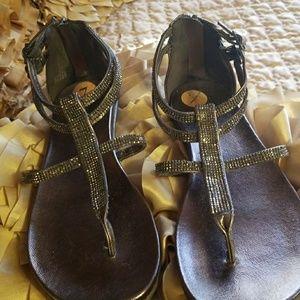 Kenneth Cole silver embellished sandals
